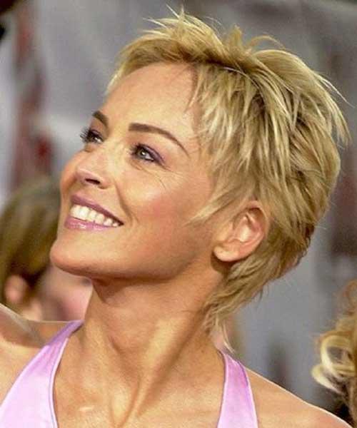 Sharon Stone Sassy Pixie Haircuts